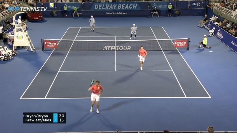 Video: Delray Beachin ATP-turnauksessa nähtiin uskomaton neluripiste