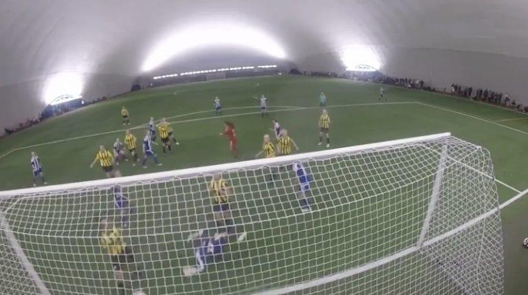 Video: HJK-maalivahti iski lisäajalla tasoitusmaalin Suomen Cupissa