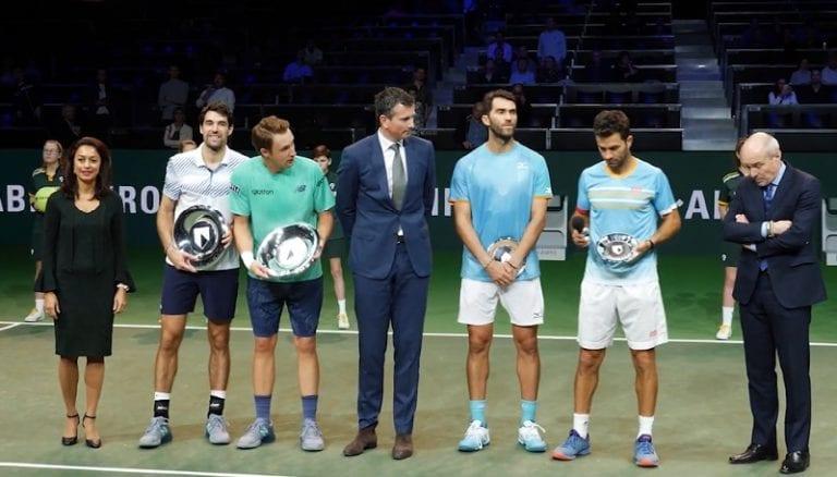 Henri Kontinen ja Jeremy Chardy Rotterdamin ATP-turnauksen voittoon