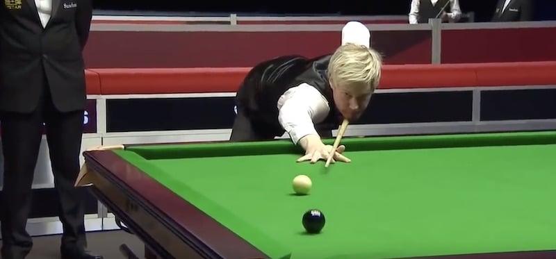 Video: Neil Robertson teki häikäisevän maksimibreikin Welsh Openissa