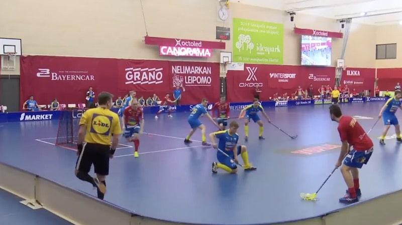 Video: Salibandyliigassa nähtiin mahtava osuma – keskitys päättyi komeaan pesäpallolyöntiin