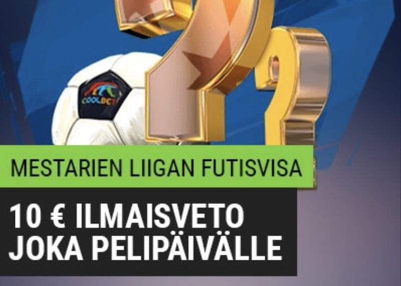 Ilmainen Mestarien liigan futisvisa – voita 10 euron ilmaisveto