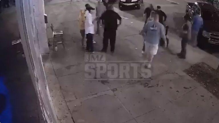 Hurja video leviää: 140-kiloinen NFL-pelaaja pudotettiin katutappelussa