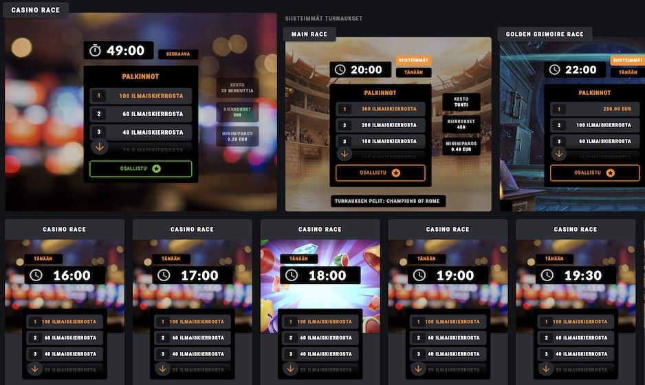Näin toimii Coolbetin Casino Race -kampanja – voita upeita palkintoja!