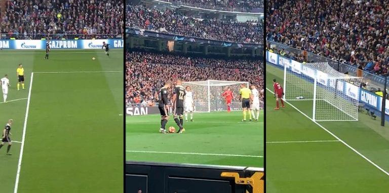 Video: Ajaxin Lasse Schöne painoi timanttisen vaparimaalin Realin verkkoon