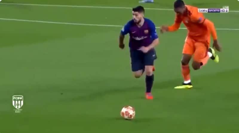 Video: Luis Suarez esitteli upean harhautuksen koskematta edes palloon