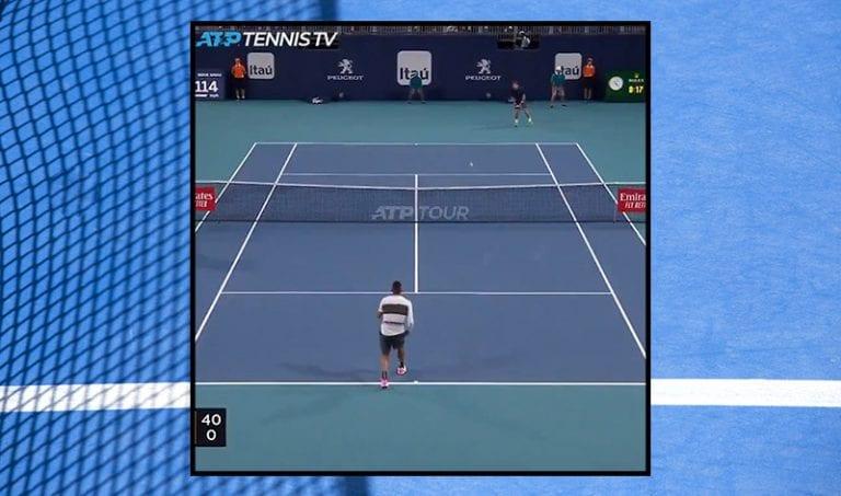 Klassikkovideo: Nick Kyrgios syötti ässän alakautta Miami Openissa