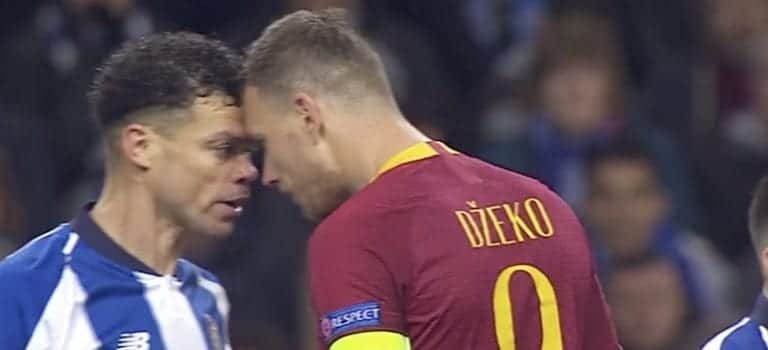 Video: Mestarien liigassa erikoinen tilanne – Pepe karjui Edin Dzekon nurmen pintaan