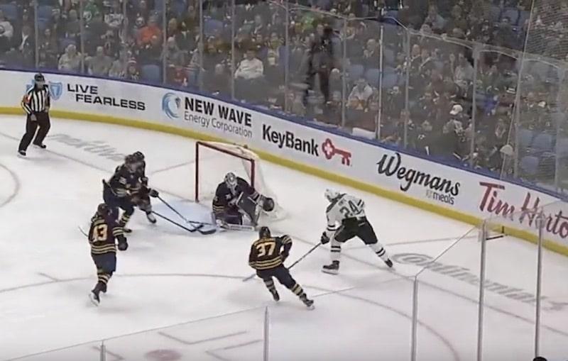 Video: Roope Hintz laukoi kaksi kuvankaunista maalia Buffalon verkkoon