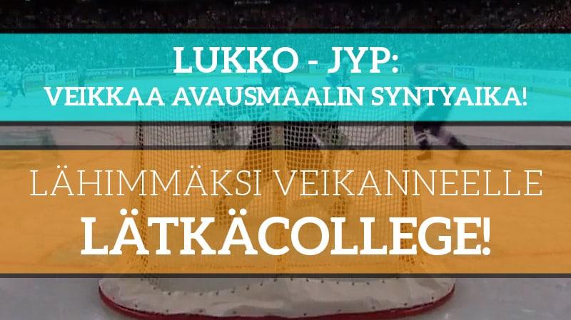 Lukko – JYP -KISA! - Lähimmäksi veikanneelle Coolbetin upea lätkäcollege!