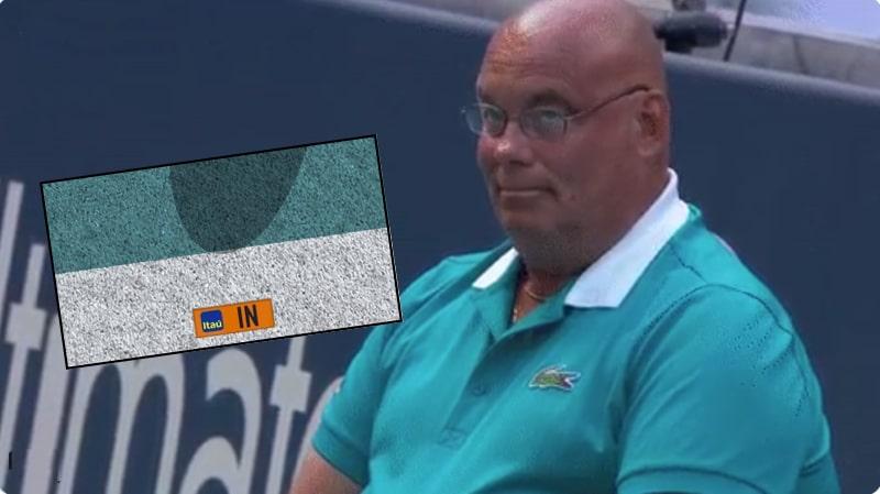 Video: Rajatuomari esitteli päällikkötason suorittamista Miami Openissa