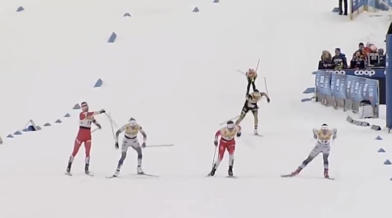 Video: Brutaali teko – venäläishiihtäjä mätkäisi sauvalla Ruotsin hiihtotähti Frida Karlssonia