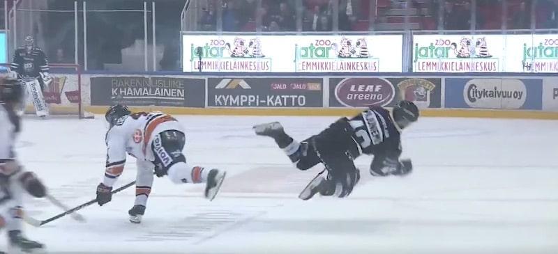 Video: HPK:n Arto Laatikainen sai kolmen ottelun pelikiellon päähän kohdistuneesta taklauksesta