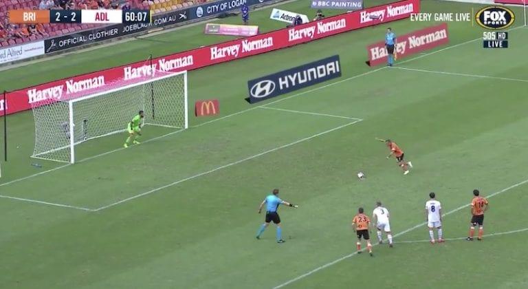Video: Australian A-Leaguessa nähtiin järjettömän nöyryyttävä rankkarimaali