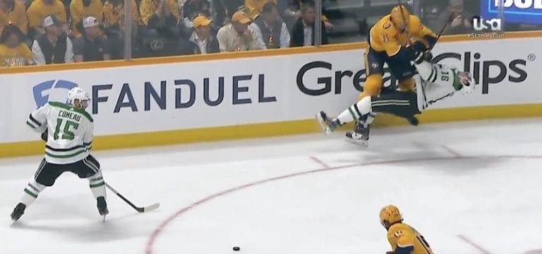 Video: Brian Boyle jysäytti hirmuisen taklauksen NHL:n pudotuspeleissä