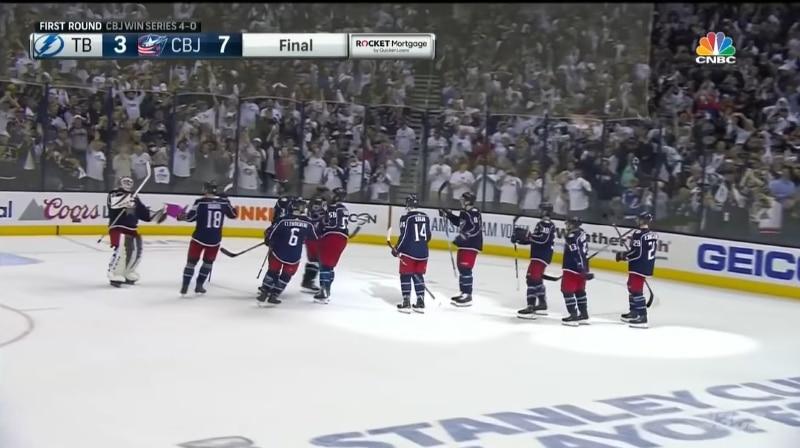 Video: Yllätys on valmis! - Columbus Blue Jackets passitti Tampa Bay Lightningin tylysti kesälomille