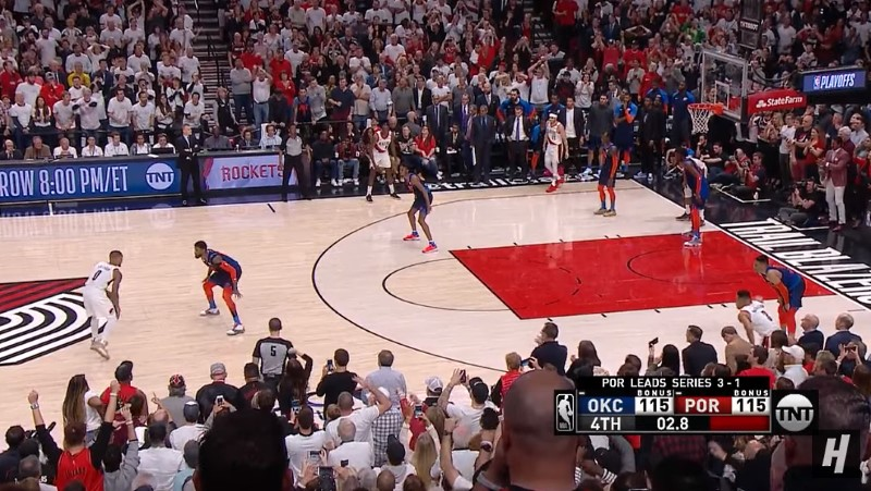 Video: NBA:n playoffs-sarja sai mielettömän loppuratkaisun - Damian Lillard Portlandin sankari
