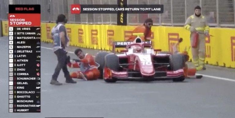 Video: F1-tallin testikuskilta karmea moka – ajoi kahden ratavirkailijan päältä