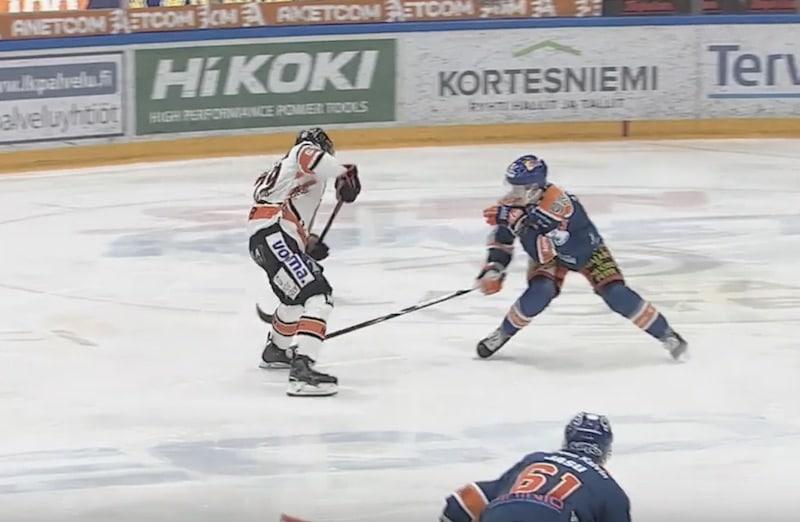 Video: HPK:n Miro Ruokonen kisutteli jäätävän maalin – Tappara nousi jatkoaikavoittoon