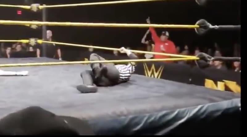 Video: WWE-tuomarin jalka murtui karmealla tavalla – hoiti työnsä silti urhoollisesti