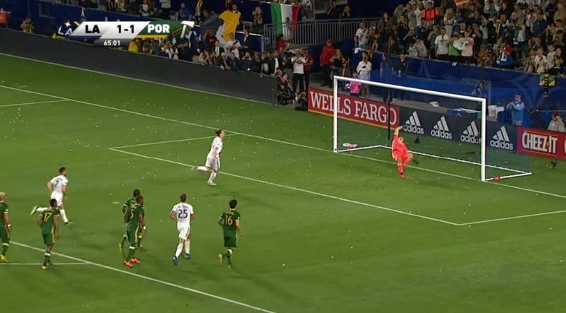 Zlatan Ibrahimovic LA Galaxy panenka - pallomeri.net