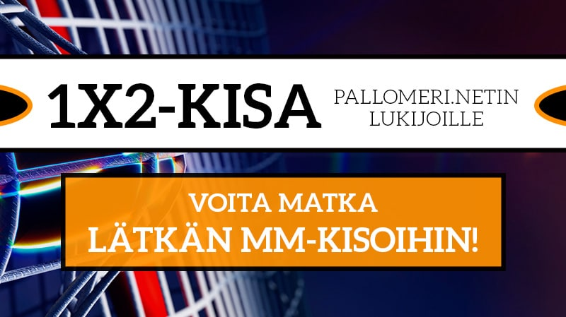 1X2-KISA! Vain Pallomeri.netin lukijoille – voita 2500€ arvoinen matka jääkiekon MM-kisoihin