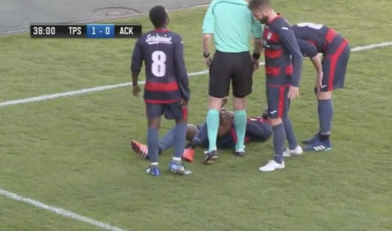 Video: TPS:n ja AC Kajaanin ottelussa nähtiin karmaiseva loukkaantuminen