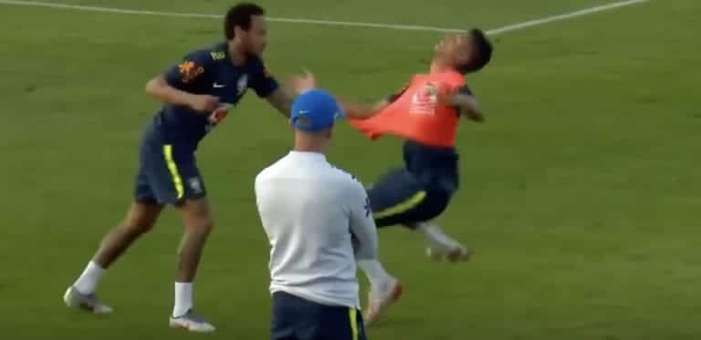 Video: Brassijunnu otti treeneissä Neymarilta putket – supertähdeltä tyly vastaus