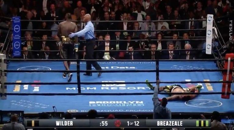 Video: Deontay Wilder tyrmäsi vastustajansa brutaalilla lyönnillä 1. erässä