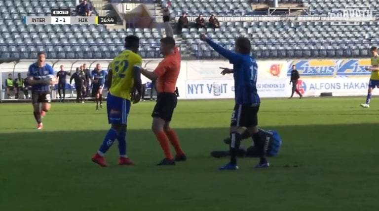 Video: HJK:n Faith Friday Obilor sai 6 ottelun pelikiellon sikailuistaan
