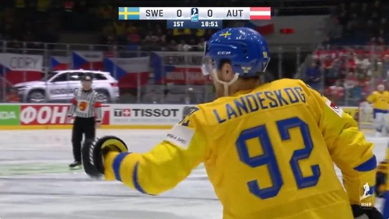 Video: Gabriel Landeskog osui MM-kisojen ensimmäisessä vaihdossaan