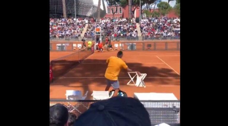 Video: Nick Kyrgios kilahti täysin Rooman ATP-kisassa – kiroili, heitti tuolin kentälle ja päätti lähteä menemään