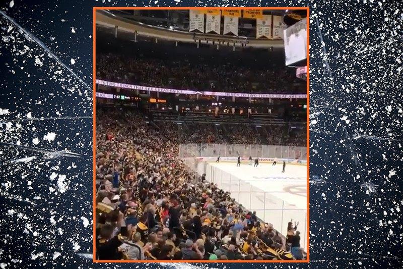 Video: Kiekkohuuman multihuipentuma - TD Garden oli loppuunmyyty Bostonin treeneissä!