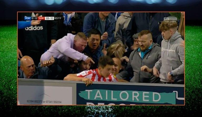 Video: Portsmouthin fani sortui älyttömään tekoon – potkaisi Sunderland-peluria
