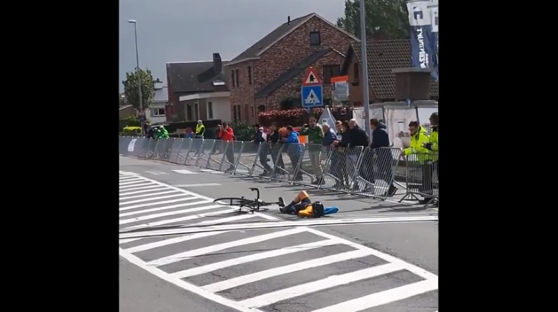 Video: 16-vuotiaan pyöräilijän voittotuuletus pahoitti mieliä Belgiassa