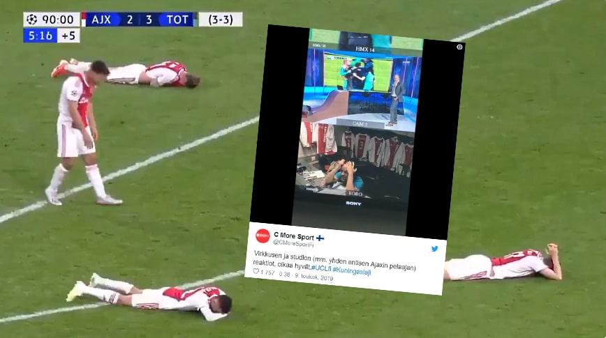 Video: Tuomas Virkkusen reaktiot selostuskopissa olivat täyttä timanttia Spursin ihmenousun hetkellä