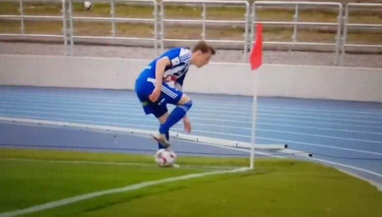 """Video: HJK:n """"ovela"""" kulmapotku meni täysin mönkään"""