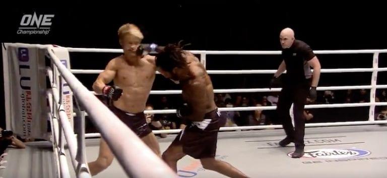 Video: Vapaaottelussa nähtiin sairas tyrmäys – vastustaja sai kahdeksan murtumaa