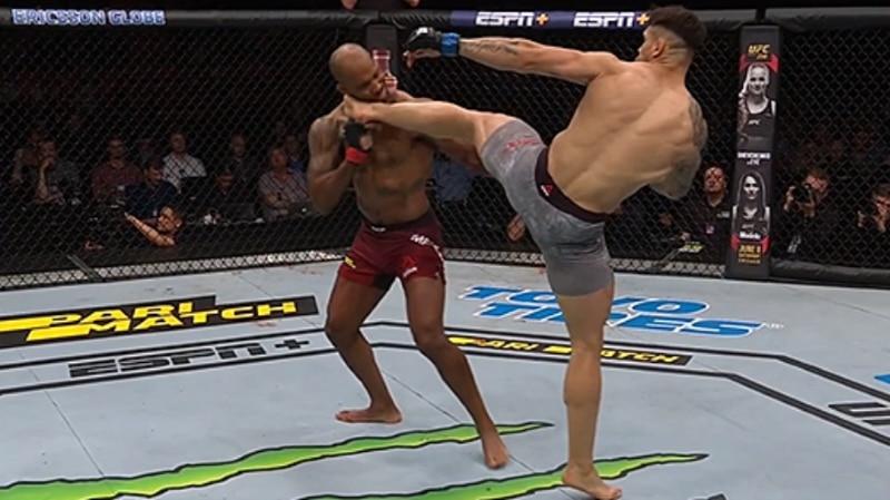 Video: Aleksandar Rakic esitteli huikean potkutyrmäyksen Tukholman UFC-illassa