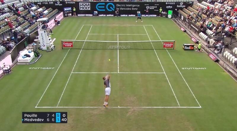 Video: Daniil Medvedev hurjana - nähtiinkö Stuttgartissa ATP-historian nopein syöttövuoro?