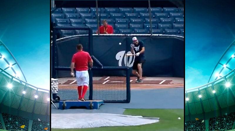 Video: MLB-pelurilla hurjaa epäonnea treeneissä - pallo mursi nenän