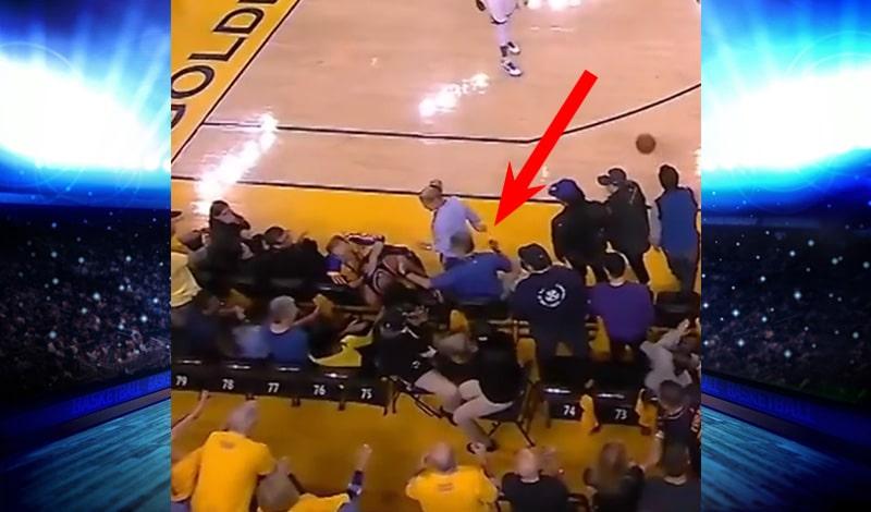 Video: GSW-osaomistaja tönäisi Kyle Lowrya NBA-finaalin tuoksinassa - sai vuoden porttikiellon matseihin