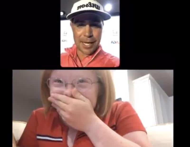 Video: Tunteikas hetki – US Openin voittanut golfari yllätti kehitysvammaisen nuoren naisen heti voiton ratkettua
