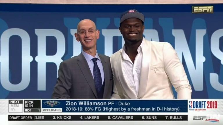 Video: Zion Williamson varattiin odotetusti ensimmäisenä NBA-draftissa
