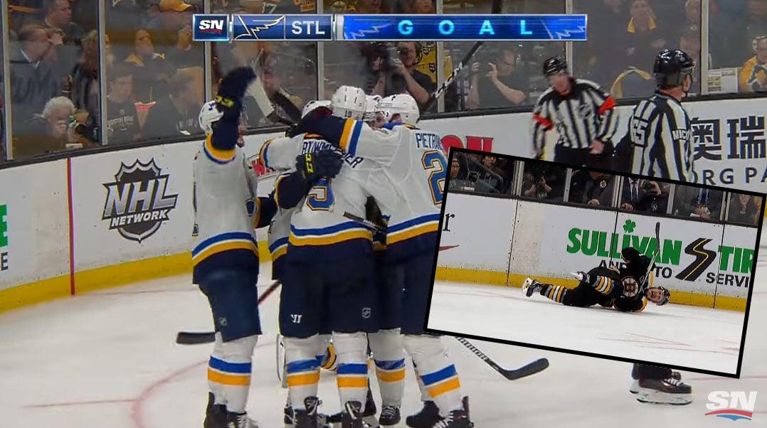Video: St. Louis laittoi mestaruuden katkolle – voittomaali raivostutti Boston-leirissä