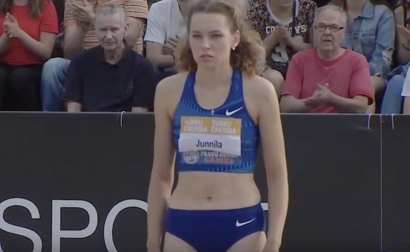 Video: Ella Junnila hyppäsi uuden Suomen ennätyksen korkeushypyssä