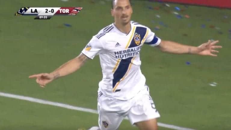 Kuva: LA Galaxyn henkilökunnalta karmaiseva virhe – Zlatanin nimi oli koomisesti pielessä Toronto-pelissä
