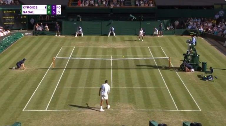 Video: Nick Kyrgios syötti ässän alakautta Rafael Nadalia vastaan