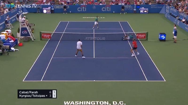 Video: Washingtonin ATP-turnauksessa nähtiin uskomaton reaktiosuoritus