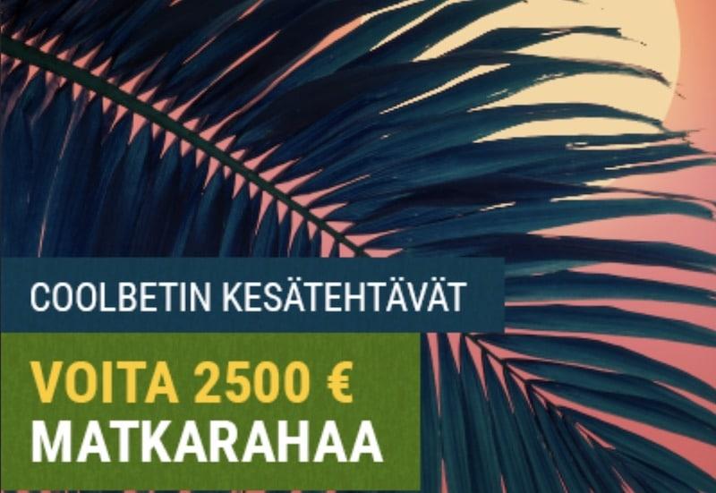 Kesätehtävät-kampanja – osallistu ja voita 2500 euroa matkarahaa!